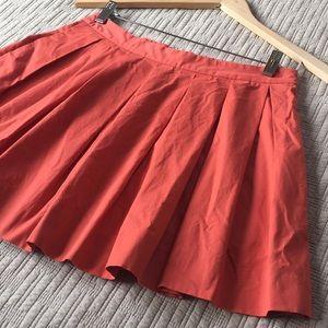 Zara poplin skirt with cute zipper in back